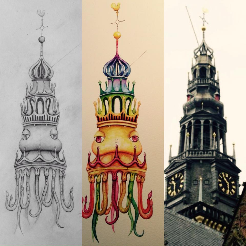 Hidden creatures Amsterdam_Oude Kerk