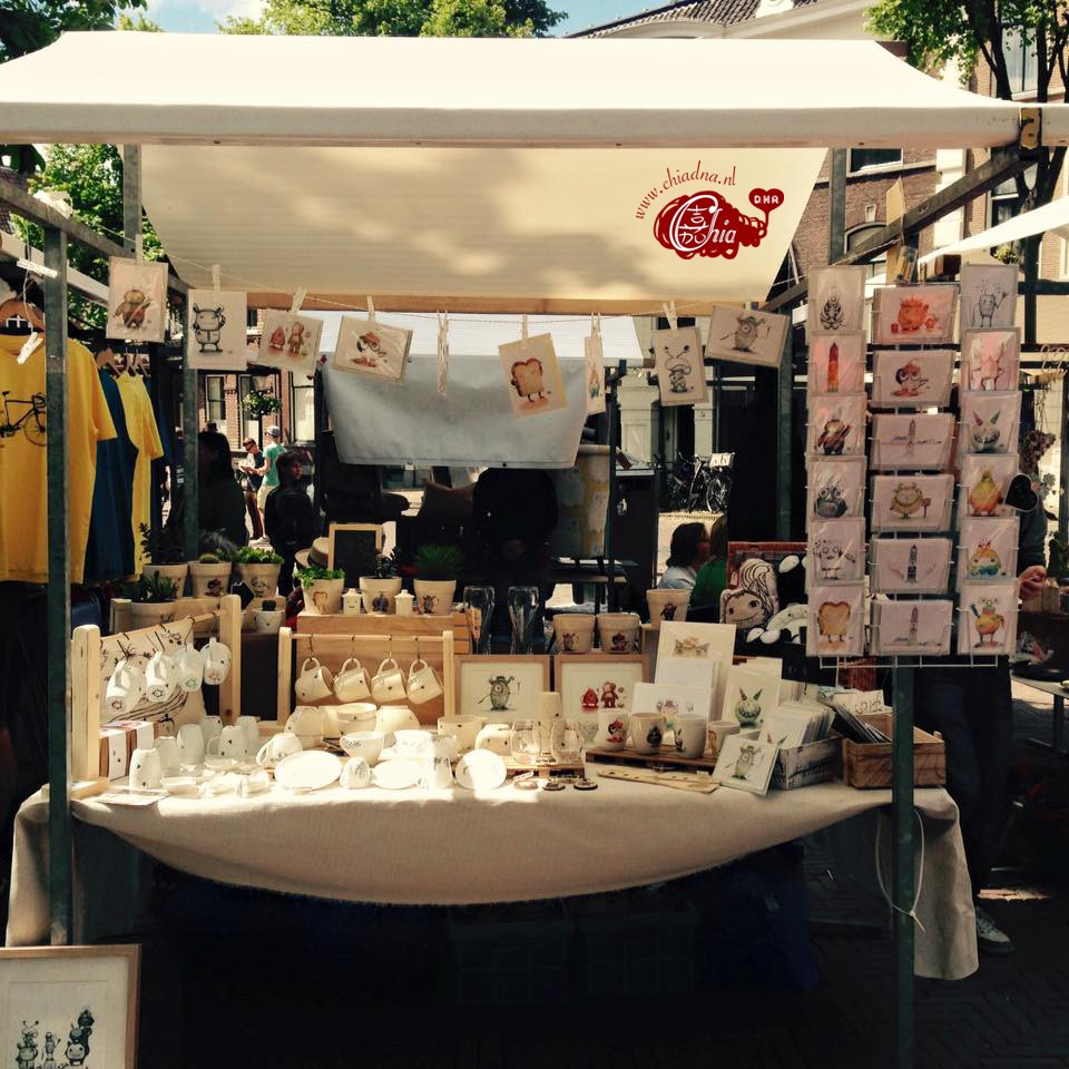 Chia DNA was at De Zelfgemaakte markt in Utrecht on 7th of June 2015.