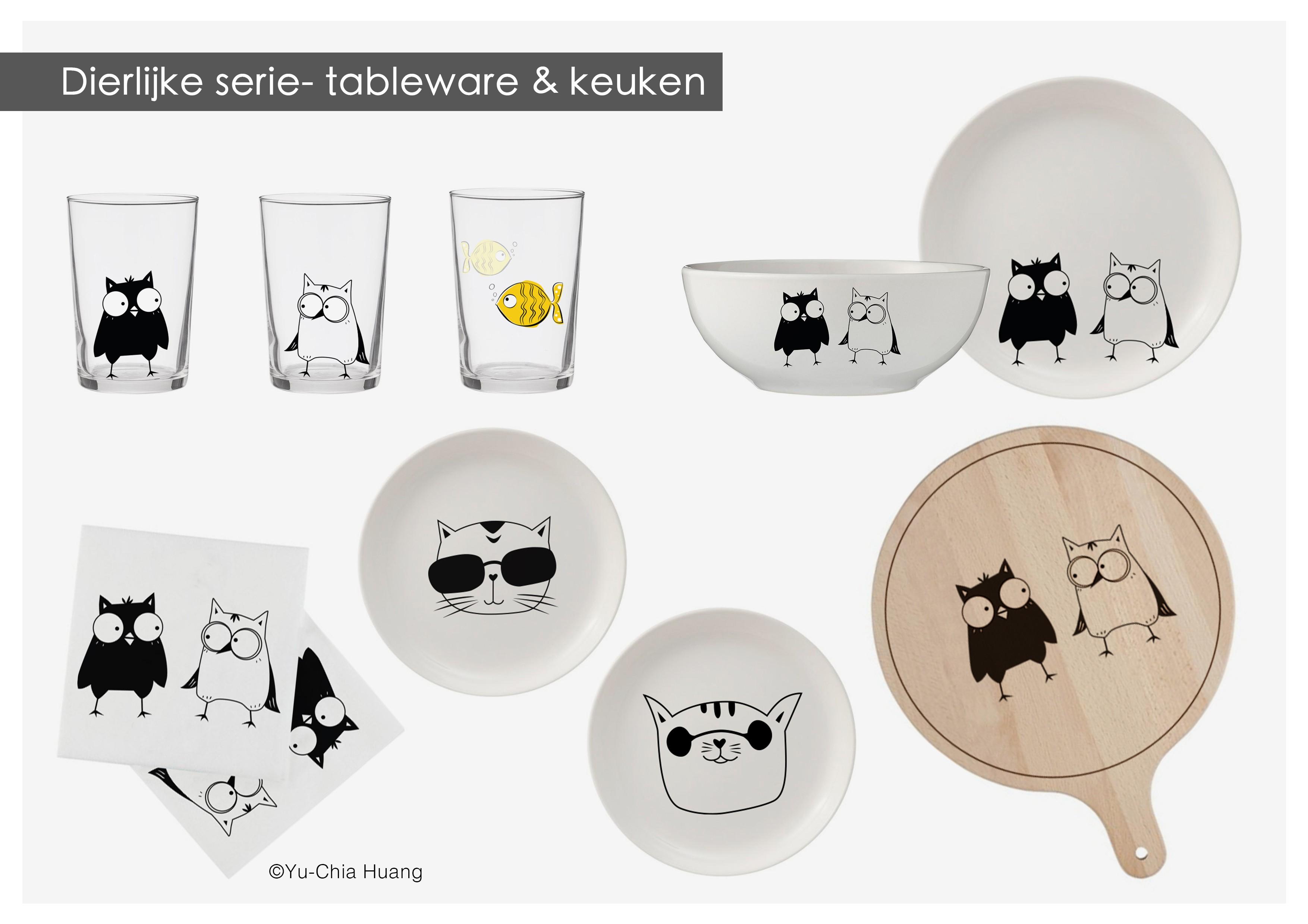 dierlijke-serie-tableware-keuken