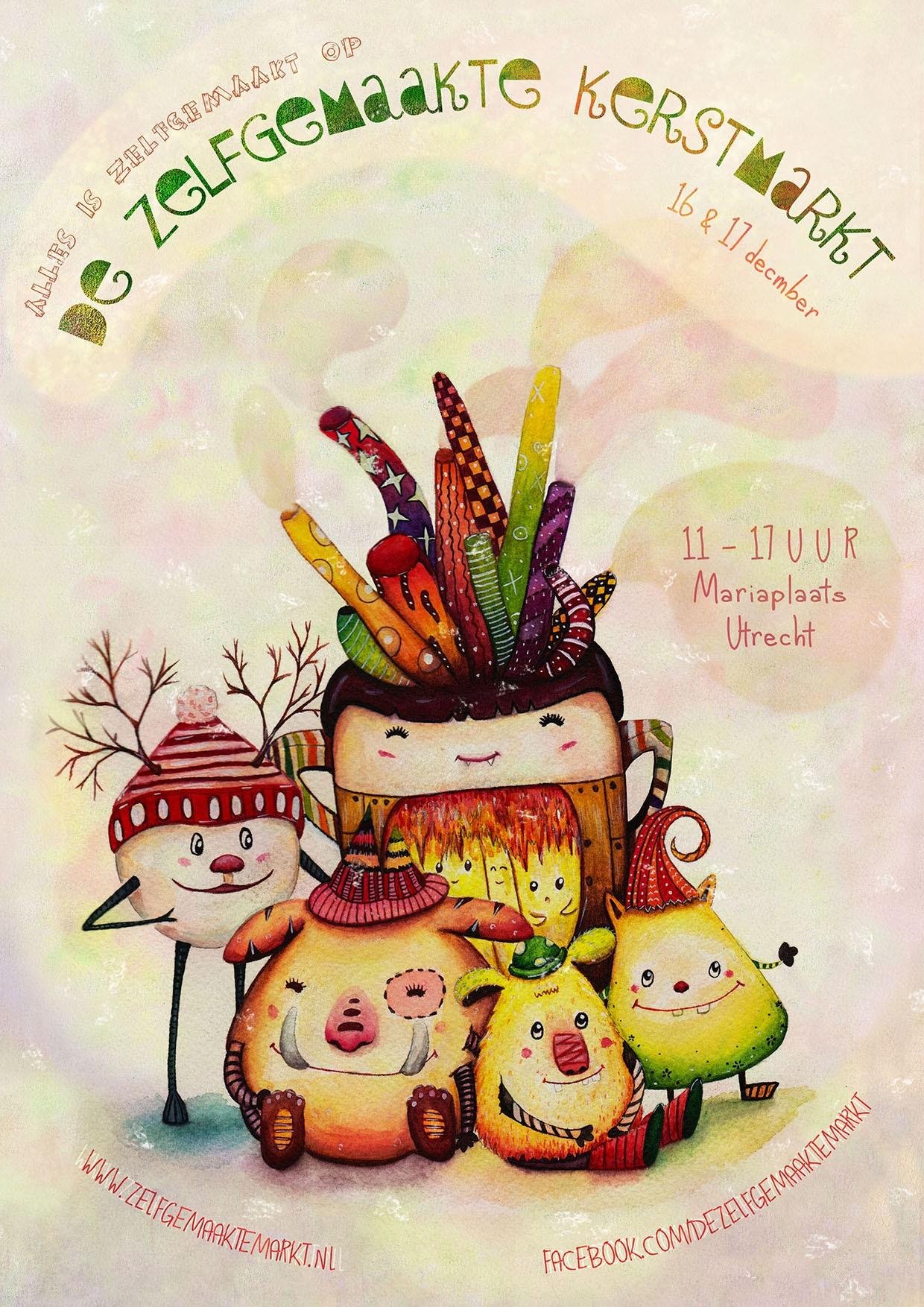 gezellige-kerst-vergadering-poster
