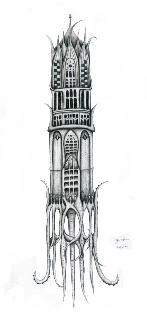 Hidden Creatures in Utrecht Dom Tower_Sketch @ChiaDNA