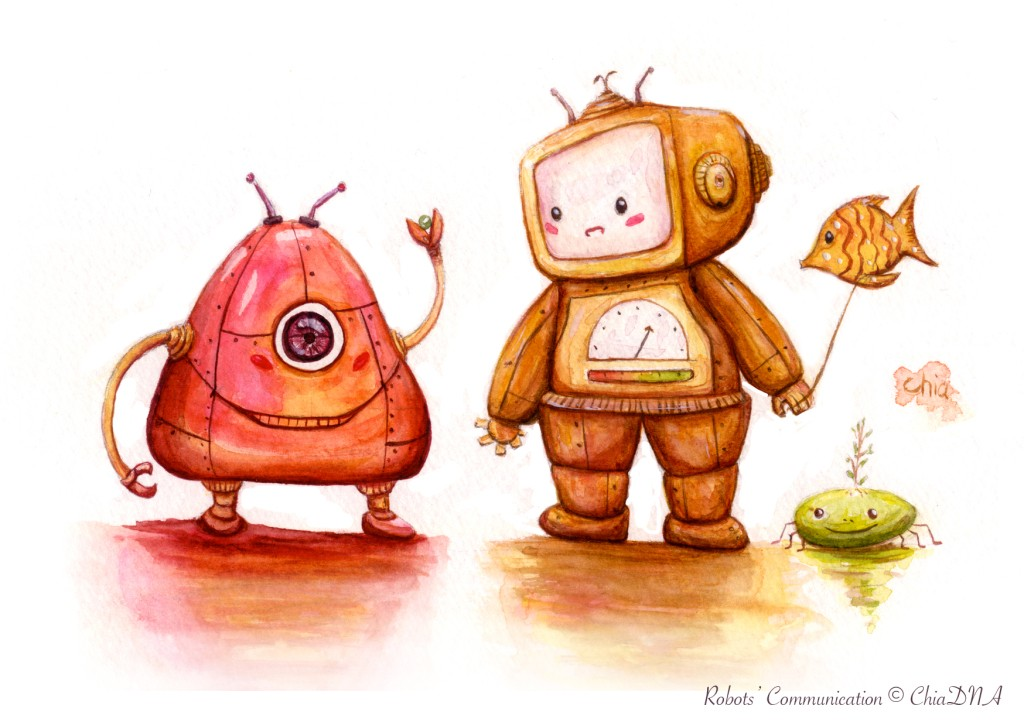 Robots' communication©ChiaDNA