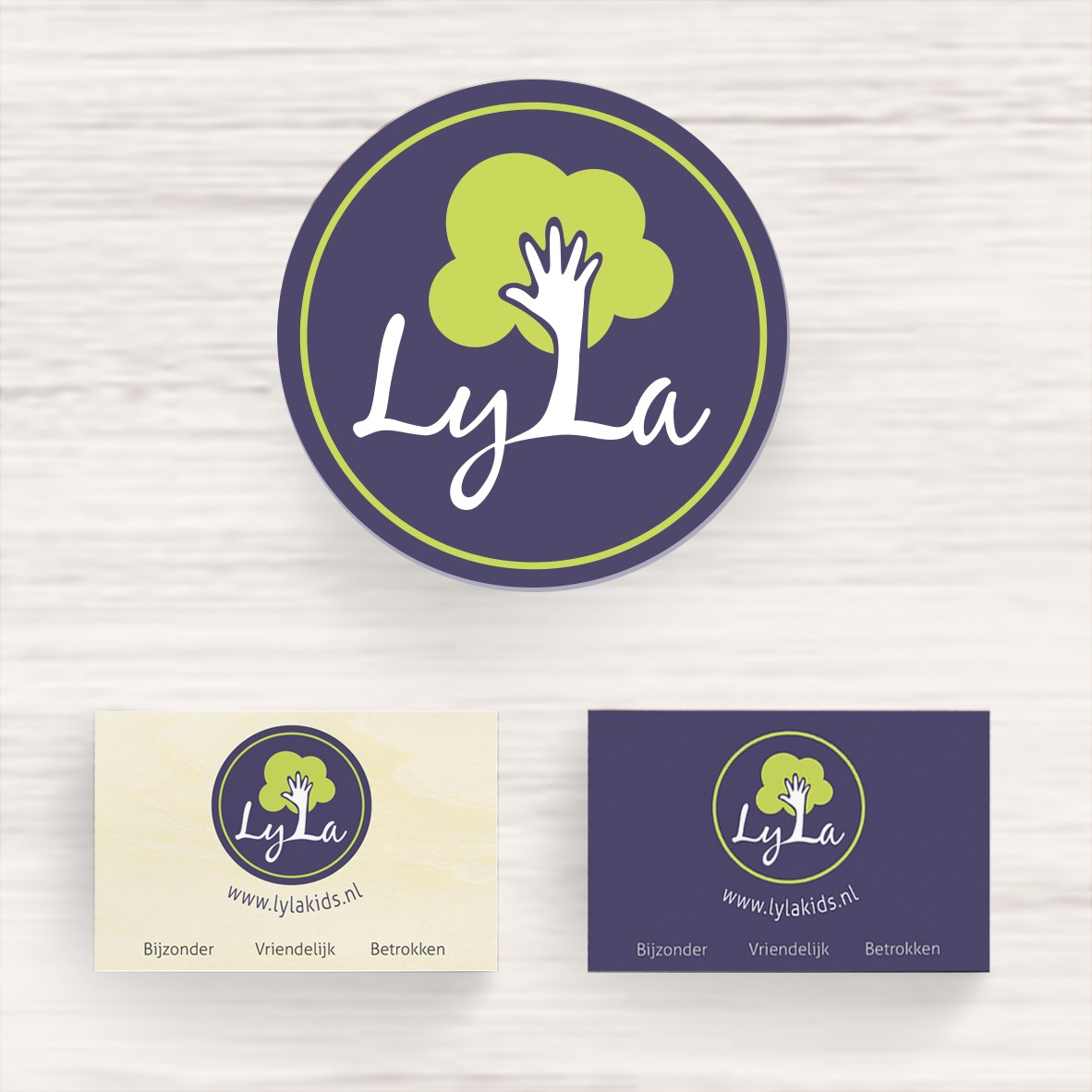 Lyla's logo and business card