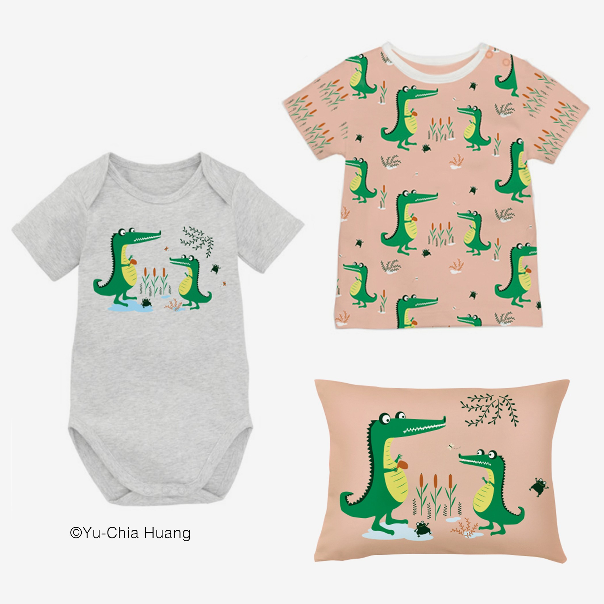 Cute Crocodiles patterns for kids