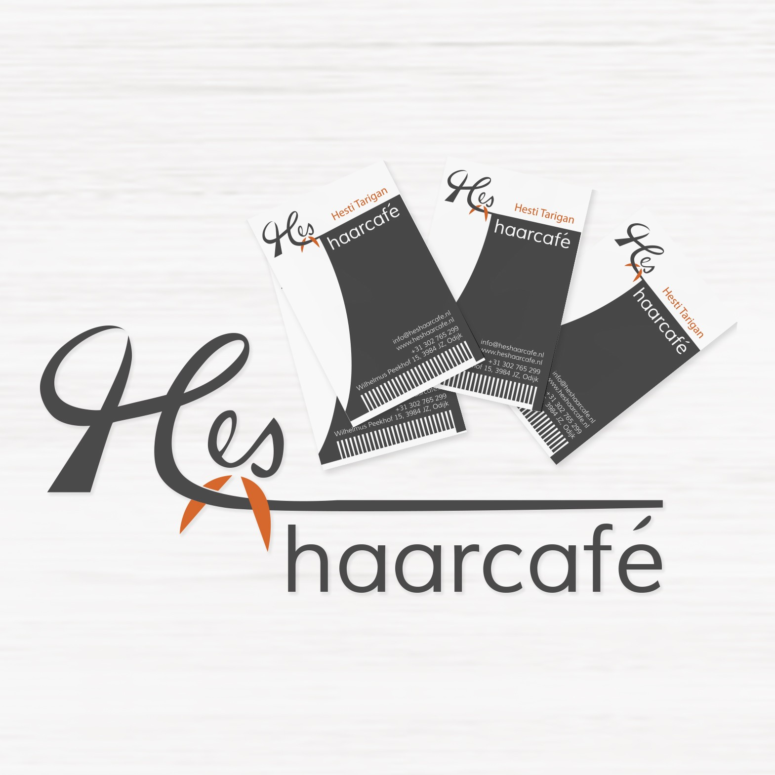Logo & Business card design of Haarcafe
