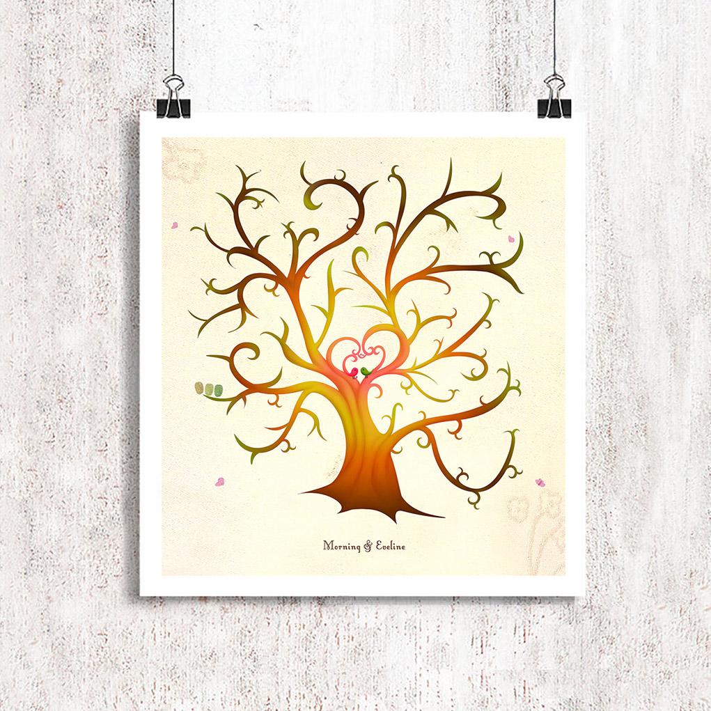 Customised wedding tree