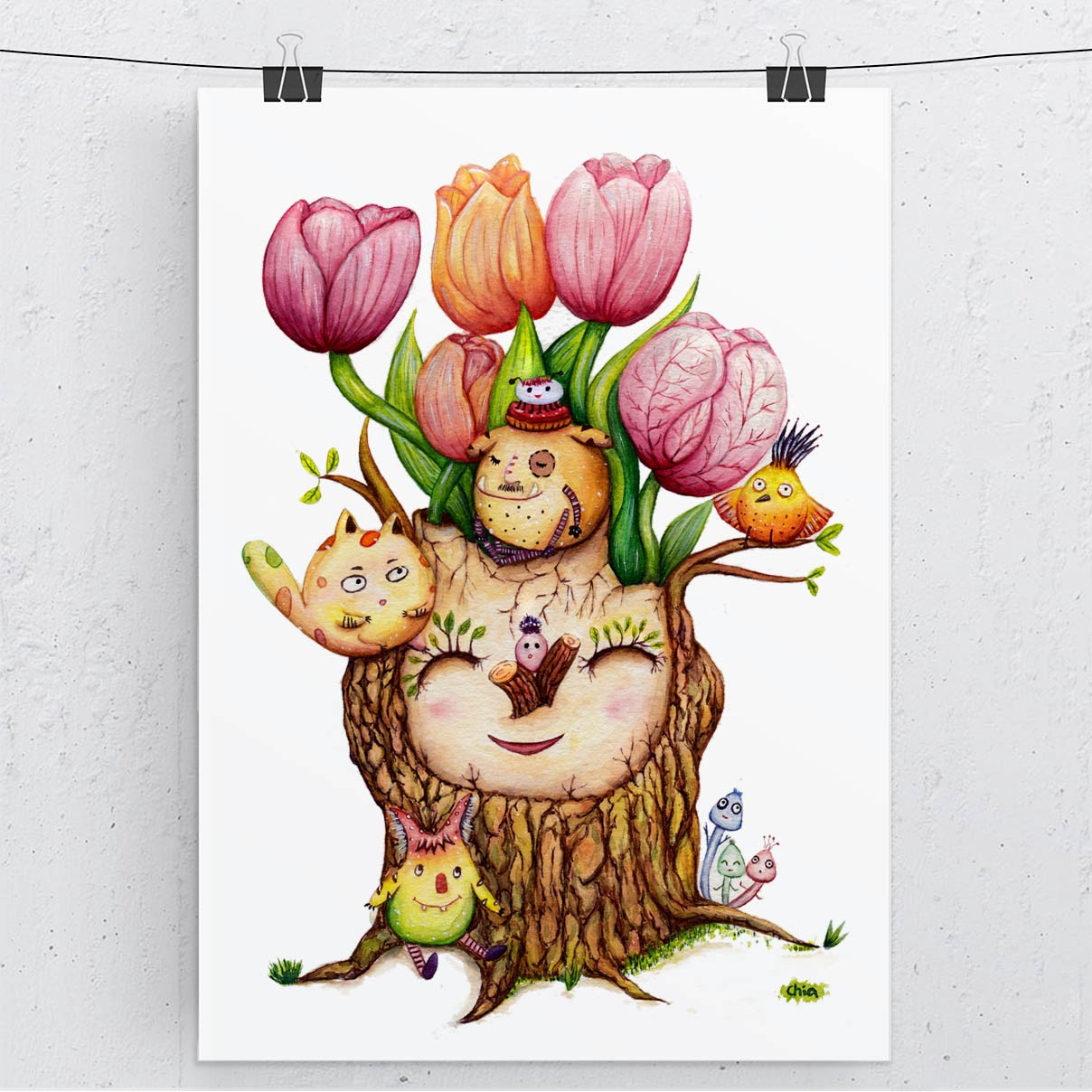 tulip-print-display